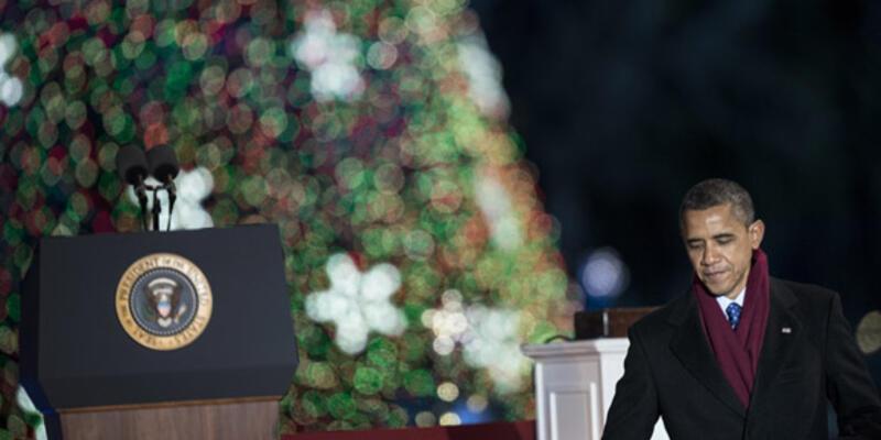 Obama Noel ağacını ışıklandırdı