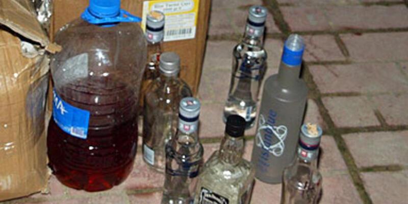 Yılbaşı için hazırlanan sahte içkiler ele geçirildi