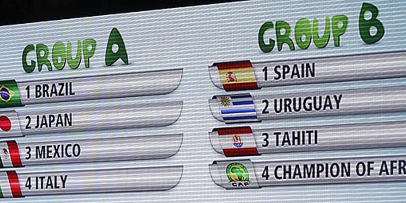 Konfederasyon Kupası kuraları çekildi
