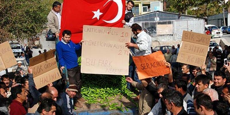 Antalya'da çiftçiler isyan etti