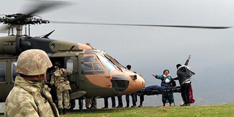 PKK'lı cenazeleri helikopterle taşındı
