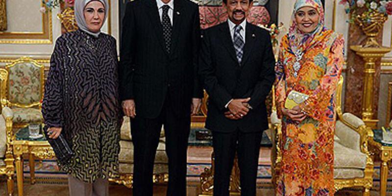 Erdoğan Brunei Sultanı ile görüştü