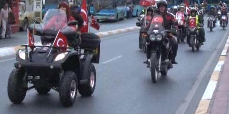 Motorcular da coşkuya katıldı