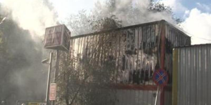 İstanbul'da konteyner yangını