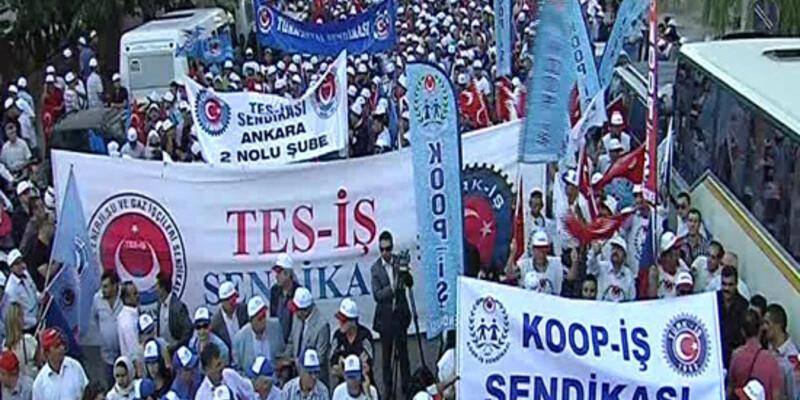 """Türk-İş Köşk'e """"veto"""" için çıktı"""