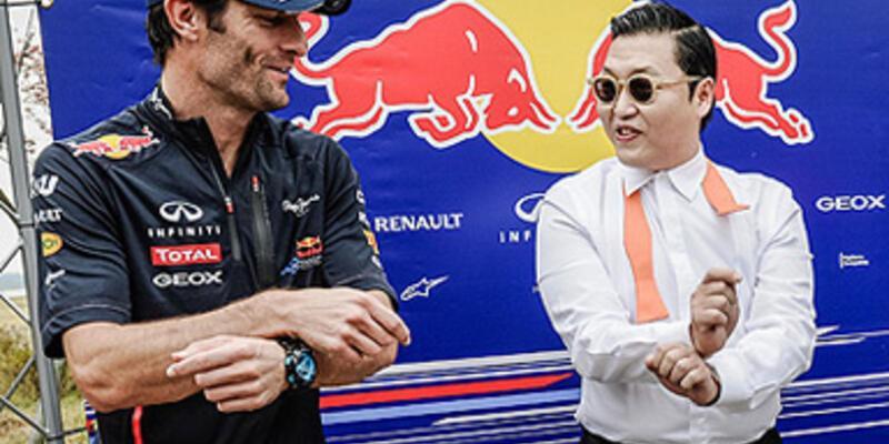 Vettel'e Gangnam Style karşılama!