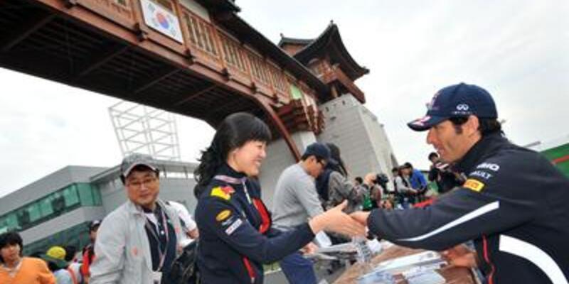 Kore Grand Prix'sinde ilk cep Webber'in