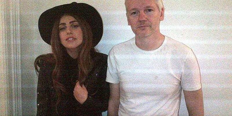 Lady Gaga, Assange'ı ziyaret etti