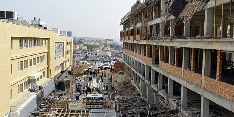 Sarıyer'de okul inşaatında çökme