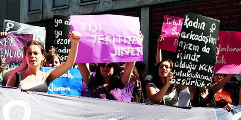 Tutuklu kadınlara özgürlük protestosu