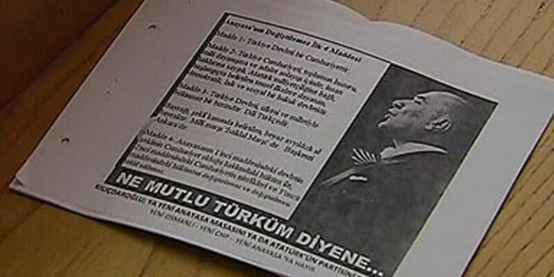 CHP grup salonunda esrarengiz bildiri!
