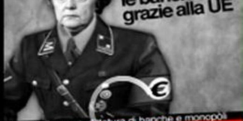 Merkel'i, Hitler'e çevirdiler
