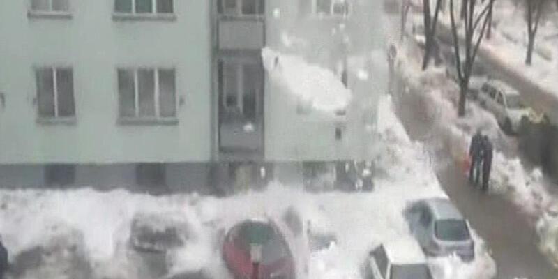 Çatıdaki kar kütlesinin gücü