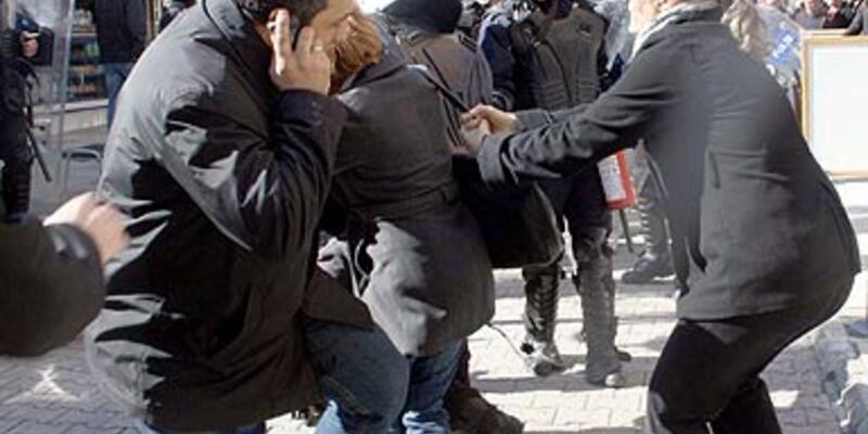 KCK protestosunda 35 gözaltı