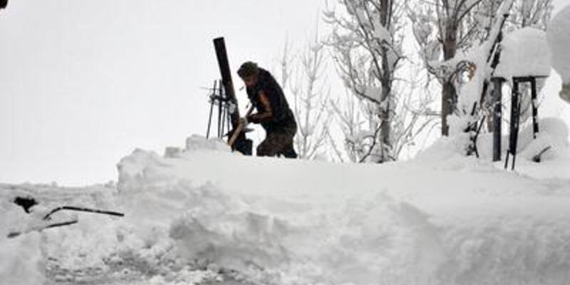 İşte Anadolu'nun kar çilesi!