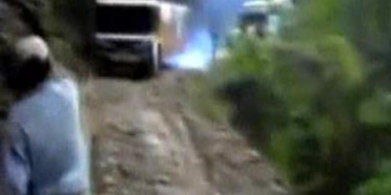 Yolcu otobüsü uçuruma böyle yuvarlandı