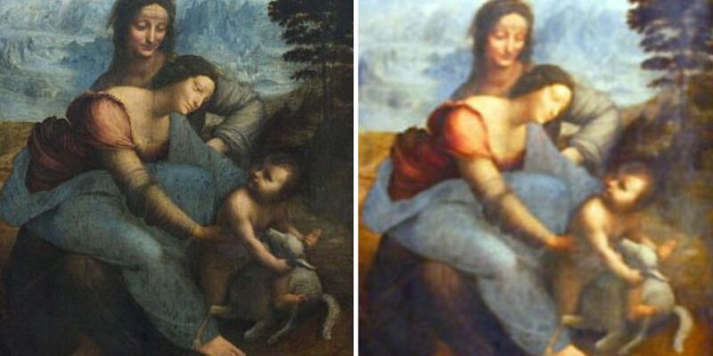 """Da Vinci tablosunu """"aşırı"""" temizlediler"""