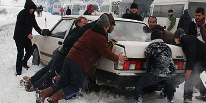 Türkiye'den kar manzaraları...