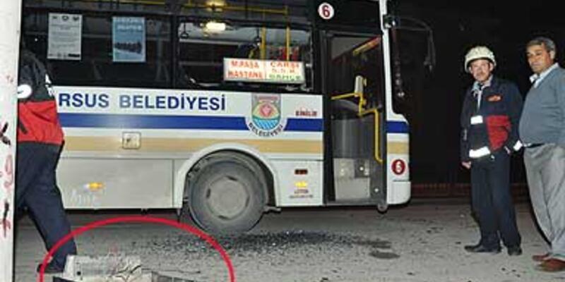 Belediye otobüsüne molotofkokteylli saldırı