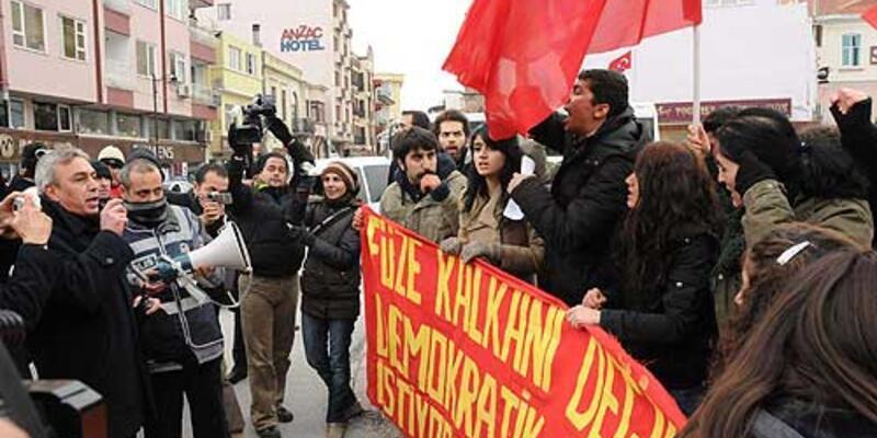 """""""Füze Kalkanı"""" protestosu: 13 gözaltı"""