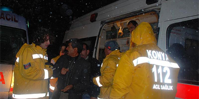 Konya'da yolcu otobüsü şarampole uçtu