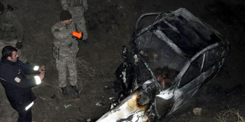 Van'daki kazada 2 kişi yanarak öldü