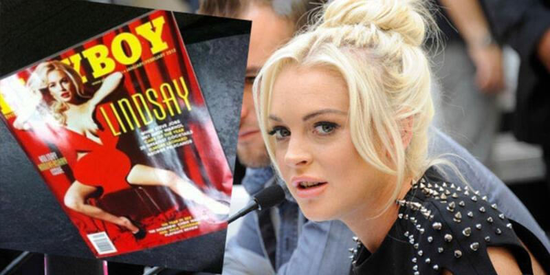 Lindsay'in Playboy kapağı sızdırıldı!