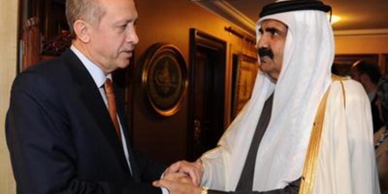 Katar Emiri Erdoğan'ı evinde ziyaret etti