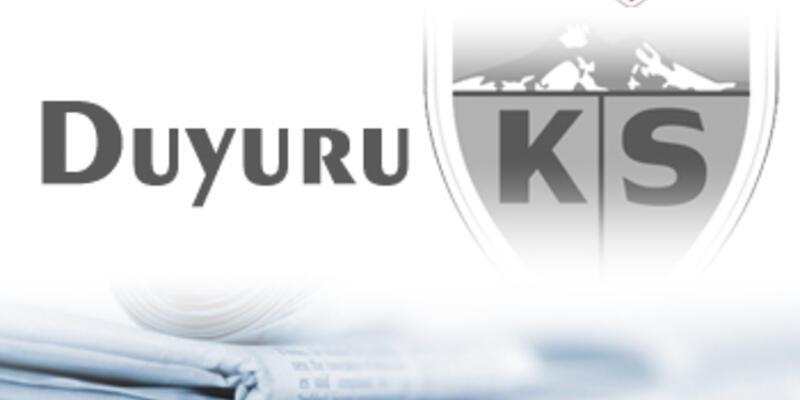 Kayserispor Başkanı, Aysal'a sert çıktı