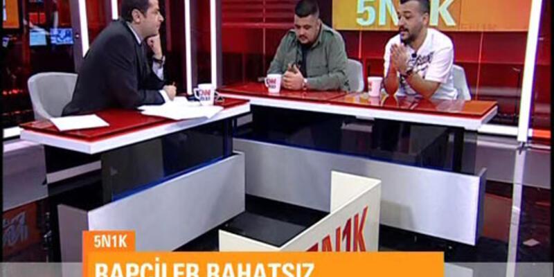 CNN TÜRK stüdyosunda rap şovu!