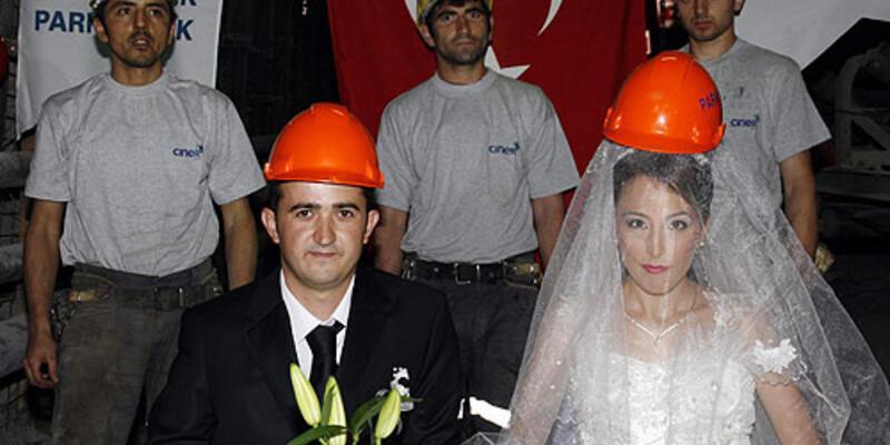 Yerin yüzlerce metre altında nikah