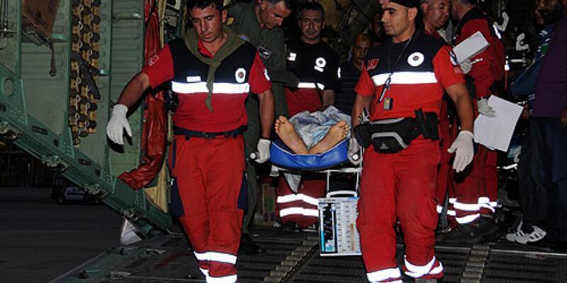 Libyalı yaralılar İstanbul'a getirildi