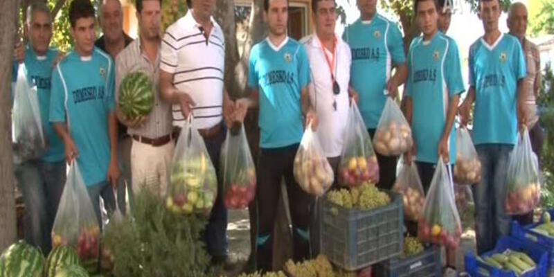 Transfer taksitleri meyve sebzeyle ödendi!