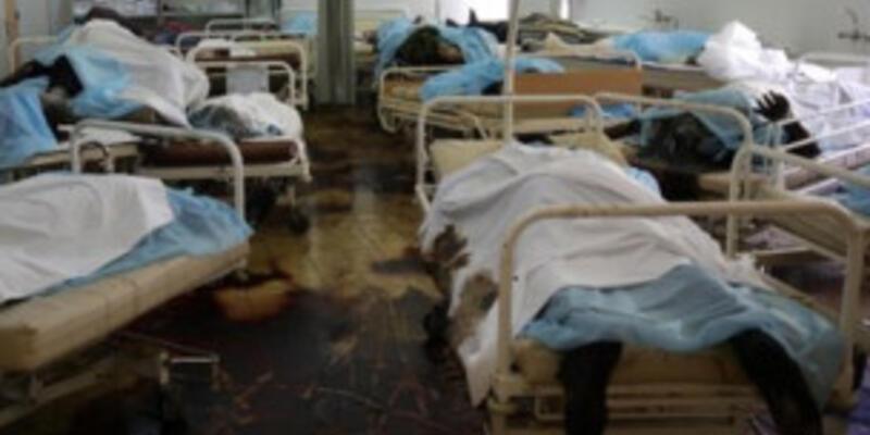 Terkedilmiş hastanede yüzlerce ölü!