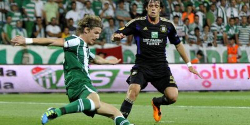 Bursaspor Anderlecht'e teslim oldu: 1-2