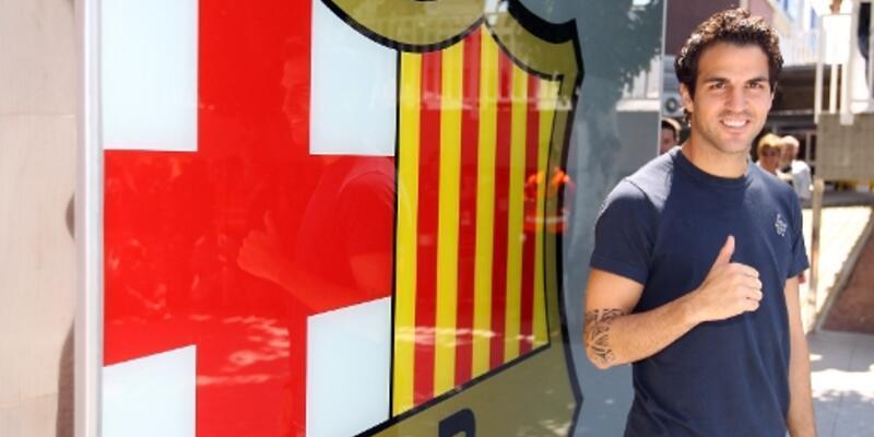 Fabregas resmen Barcelona'da