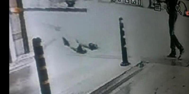 Taksim'deki dehşet anı kamerada