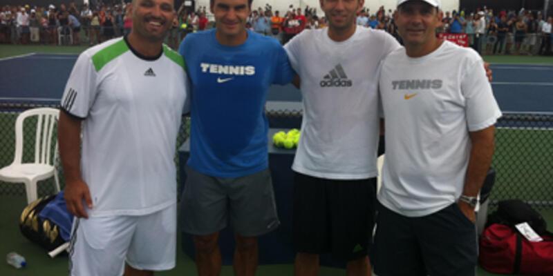 Marsel İlhan, Federer'le antrenman yaptı