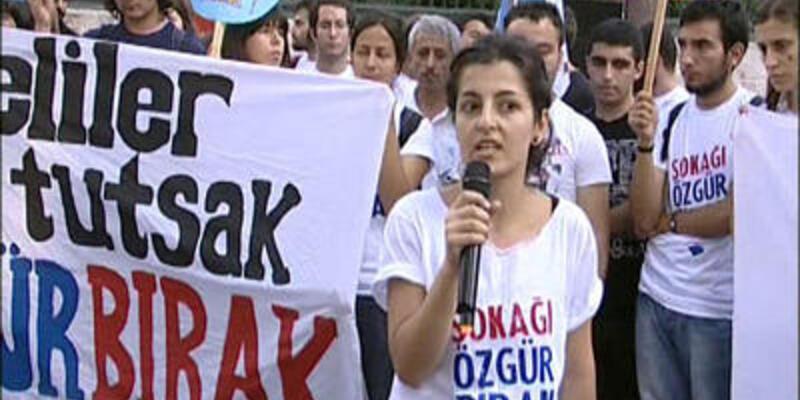 """Hopa protestosu: """"Sokağı özgür bırak"""""""