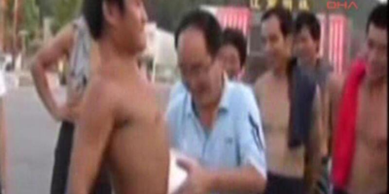 Çinli gencin şoke eden gösterisi