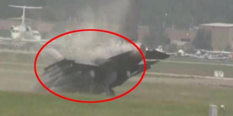 F-16 pistten çıktı, o anlar saniye saniye görüntülendi