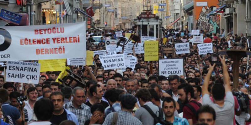 Beyoğlu esnafı yine protestoda