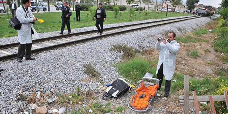 Hemzemin geçitte bebeğe tren çarptı!..