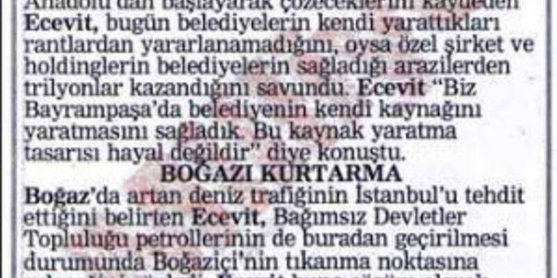 """""""Kanal İstanbul"""" Ecevit'in projesi çıktı"""