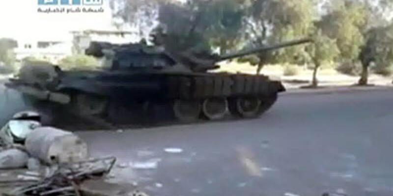 Suriye'de tanklar devrede