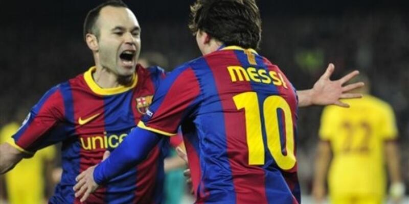 Messi Barça'yı çeyrek finale taşıdı