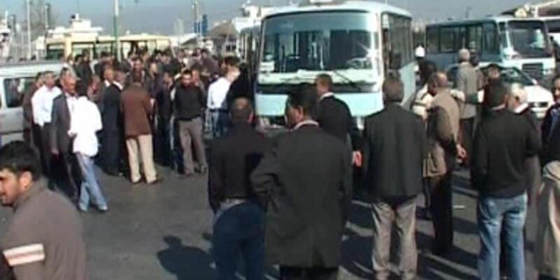 Gebze-Harem hattı minibüsçüleri eylem yaptı!