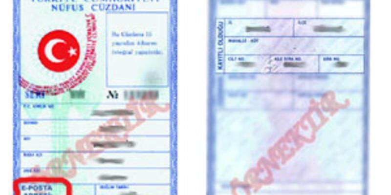 E-posta adresi nüfus cüzdanına giriyor