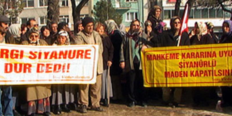 Köylülerden 'altın madeni kapatılsın' dilekçesi