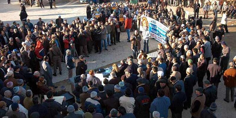 Bursa'da termik santral protestosu